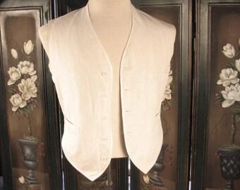 Edwardian Summer Linen Vest....   chest 41 inches