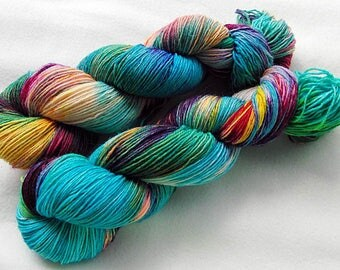 Handdyed SockYarn, 75 Wool, 25 Nylon 100g 3.5 oz. Nr. 174