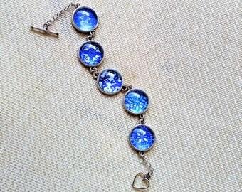 Portuguese Jewelry, Portuguese Tiles Replica Bracelet, Portugal, Portuguese Bracelet, Tiles, Azulejos, Cabochon