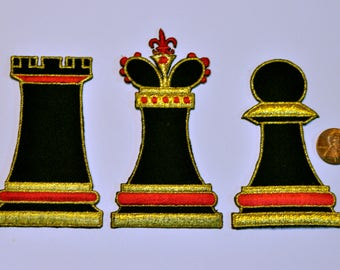 Set of 3 Chess Patches