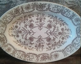 Antique Ironstone T & R Boote Platter farmhouse platter gifts for her housewarming gifts oval 1800 platter