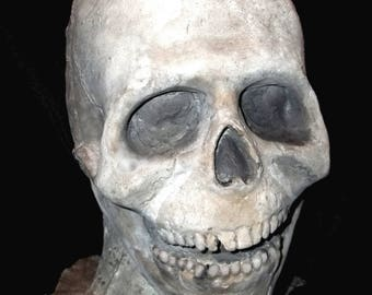 RAW Latex SKULL MASK - Gothic Horror - Adult Size - Limited Edition - Very Creepy!! - Ready to finish!!!