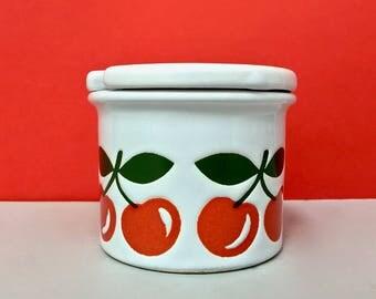 Waechtersbach cherry jam pot