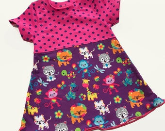 Infant Dress - Rainbow Zoo- Size 3-6 months