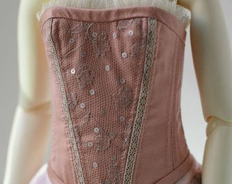 Dupioni silk BJD corset for SD13 Girl