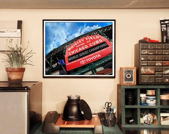 Chicago Cubs World Series Champions Wrigley Field Marquee Photograph