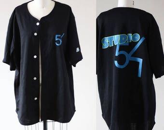 1980s Studio 54 jersey // 1980s baseball tshirt // vintage t-shirt