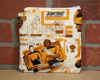 One Sandwich Bag, Reusable Lunch Bags, Waste-Free Lunch, Machine Washable, Star Trek, Sandwich Sacks, item #SS89