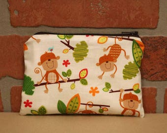 One Snack Sack, Reusable Lunch Bags, Waste-Free Lunch, Machine Washable, Monkey, Back to School, School Lunch, item #SS76