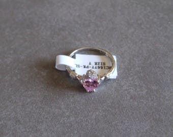 Rose Pink Claddagh Ring