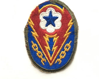 WWII US Army Military Sleeve Insignia - US Army European Theater of Operations Patch - Authentic World War 2 Patch -Vintage Militaria