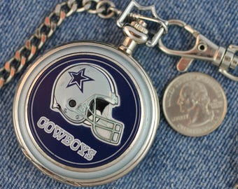 Dallas Cowboys Pocket Watch • Quartz • Free Shipping! • Working and Ready for Use