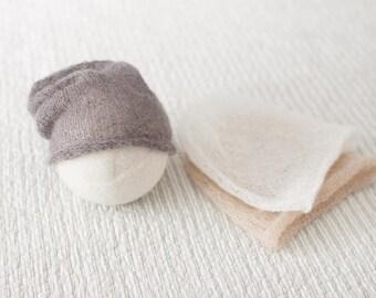 Newborn Slouch Hat, Grey Newborn Slouch Hat, Mohair Slouch Hat, Beige Newborn Slouch Hat, White Slouch Hat,Newborn Boy Photography Prop