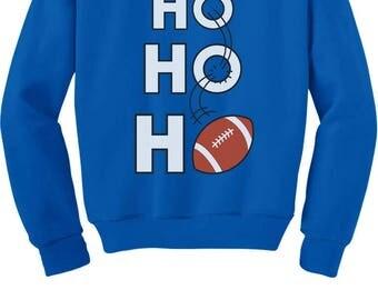 Ho Ho Ho Christmas Gift for Football Lovers Toddler/Kids Sweatshirt