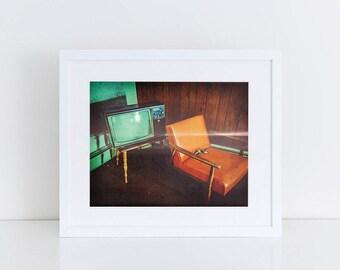 Retro Motel Room - Urban Exploration - Fine Art Photography Print