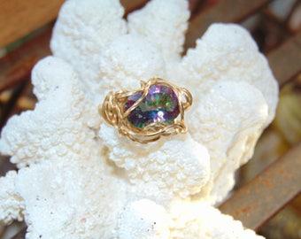 Mystic Topaz Gold Ring
