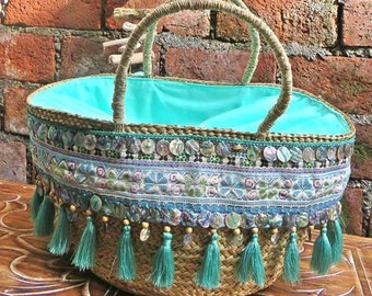 Tassel Belt Handmade Rattan|; Boho bag; Hippie Bags;,