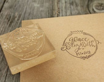 "Custom Logo Stamp ( 1.5"" x 1.5"" )  - Personalized Rubber Stamp + Design Work"