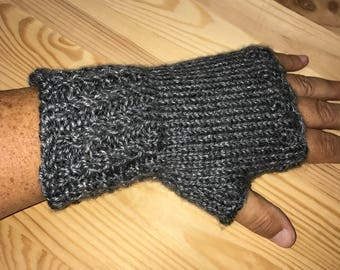 Fingerless Mittens - Knit Mittens - Knitted Gloves - Hand Warmers - Knit Fingerless Gloves - Ladies Gloves - Fingerless Gloves -