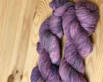 Purple dyed-dyed Purple-hand dyed yarn-Purple Yarn- Fingering Weight-Hand Dyed Sock-Sock Yarn Dyed-Purple Sock-Variegated Yarn, Purple Shade