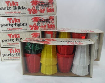 Vintage Tiki Party Lights * New Old Stock * In Box