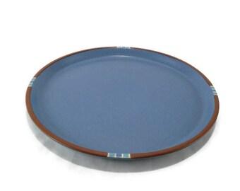 Vintage Dansk Mesa Sky Blue Serving Platter * Large Chop Plate