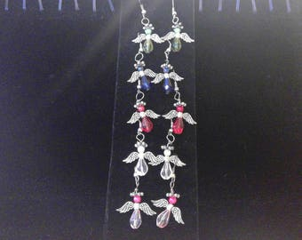 Angel Earrings - Silver Tone