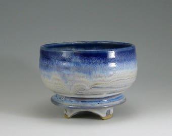 Matcha Tea Bowl, Serving Bowl, Blue Moon, hand-thrown stoneware bowl (#19)