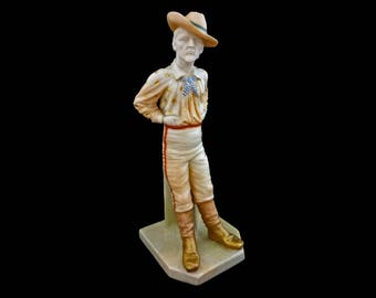 Antique Royal Worcester The Yankee Porcelain National Figure Series 836 - 1896, England