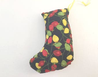 Christmas Ornament, Stocking Ornament, Christmas Stocking, Mini Stocking, Tree Ornament, Pet Toy, Stuffed Stocking, Handmade ornament