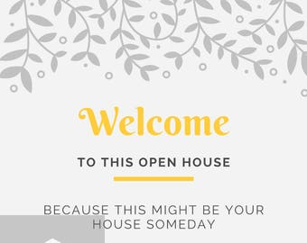 Open House Flyer-Please remove your shoes -Instant digital download