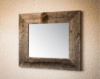 22x26 Mirror with Barnwood Frame - Natural