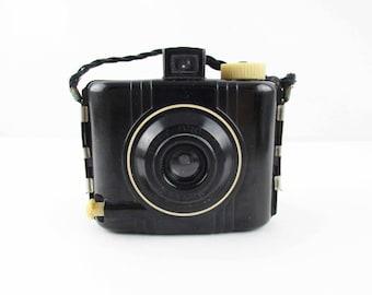 Sweet Little 'Baby Brownie Special' Tiny Camera - Bakelite - Electronics - Braided Grip -  1939-1954 - Kodak Brownie
