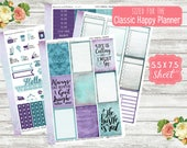KT03 Peacock Parade - CLASSIC HAPPY Planner Sticker Kit
