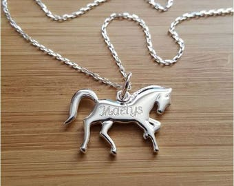 Necklace chain engraved with a name in Silver 925/000