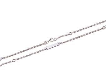 Silver curb chain Bracelet for baby with name 51458135 15 cm