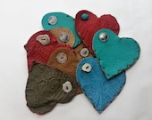 Bulk order for RETREAT :Mother's Day Gift, Love Pouch, Heart Pouches, Leather Valentines, Leather Heart Pouches, Heart Pouches
