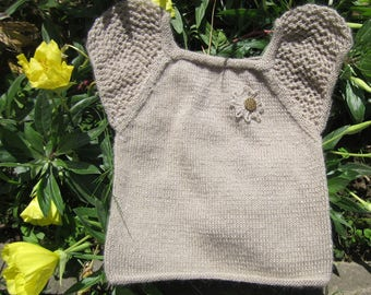 Knitted coffee with milk top for girl