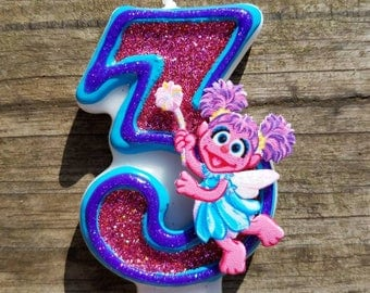 Abby Cadabby Birthday candle, Sesame Street Birthday Candle