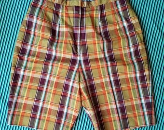 White Stag Plaid Shorts
