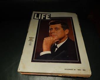 LIFE magazine President John F. KENNEDY, 1917 1963 November 29, 1963 25c