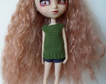 Sage crochet Top for Pullip dolls