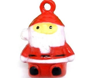 1 Father Christmas, Red Bell, dimensions: 24x17mm