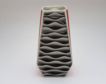 Beautiful Large Plankenhammer Op Art vase