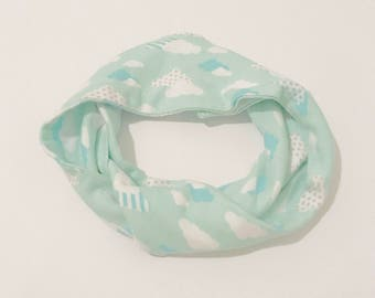 Anniversary Sale • Girl's Infinity Scarf • Mint • Clouds • Scarf • Kids • Back To School • Gift • BizyBelle
