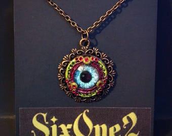 Toxic Eyeball Necklace Blue