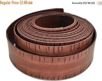 ON SALE 40MM Vintage Whisky Engraved Flat Leather Cord