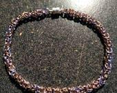 Dainty byzantine bracelet, pink, lavender, champagne