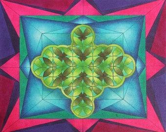 Seeking Cohesion  -  Print  -  Acrylic Painting