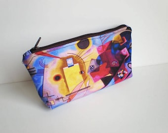 Makeup bag, cosmetic bag, zipper pouch, pencil case, Kandinsky, small bag, fabric pouch, Kandinsky bag, printed pouch, gift for her